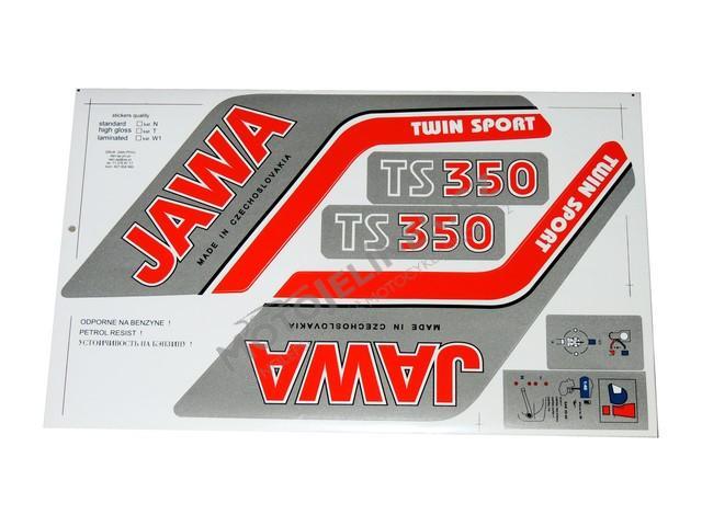 Nálepky sada - JAWA 350 638-639 TS  3cd24f7ede4