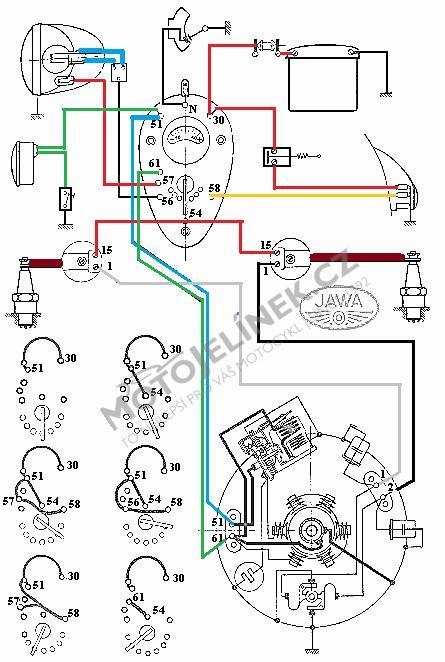 Yamaha Yl1 Wiring Diagram : Díly jawa panel kÝv zapalování elektro