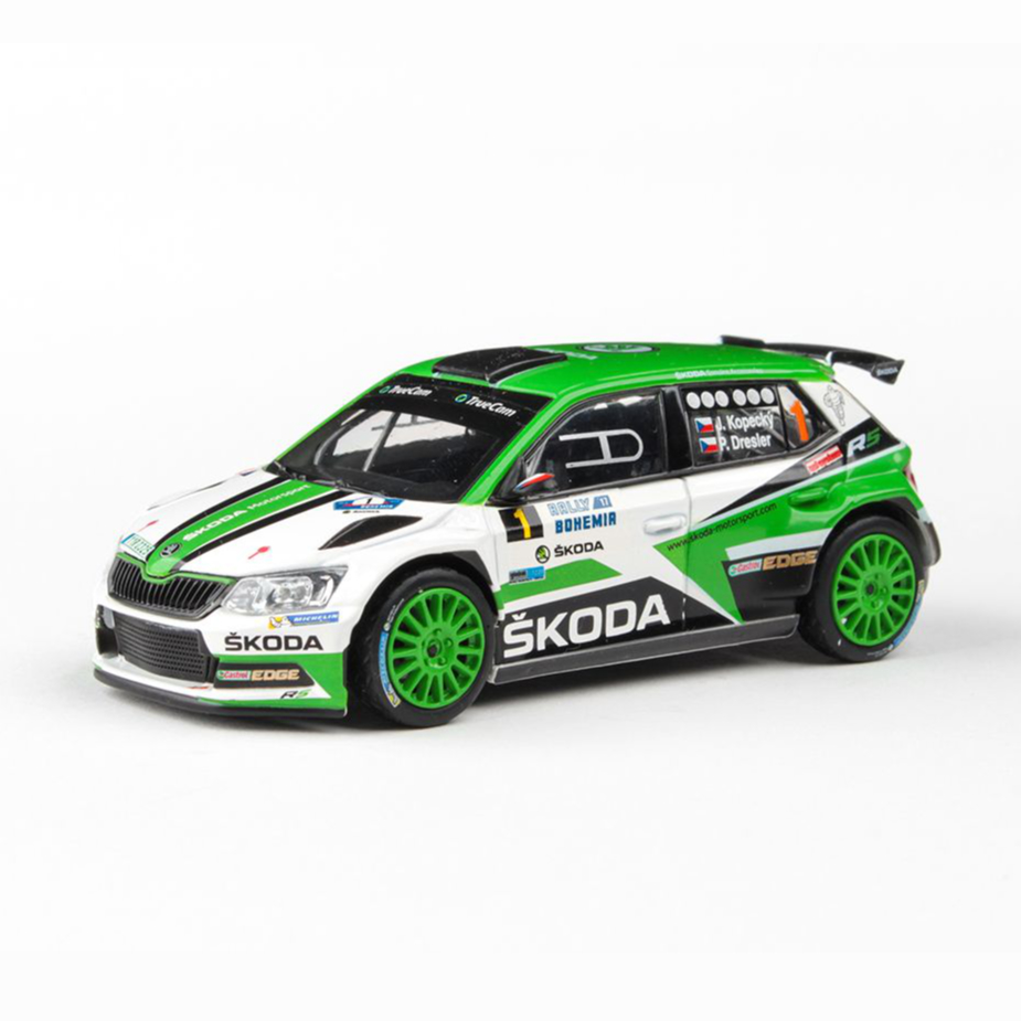 Model Škoda Fabia R5 (1:43), Jan KOPECKÝ #1 Rally Bohemia 2017