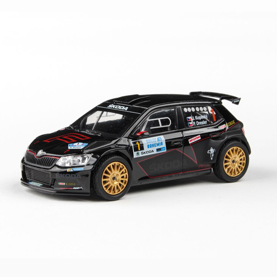 Model Škoda Fabia R5 (1:43), Jan KOPECKÝ #1 Rally Bohemia 2016
