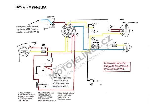 Dily Jawa 250 350 Panel Kyv Zapalovani Elektro