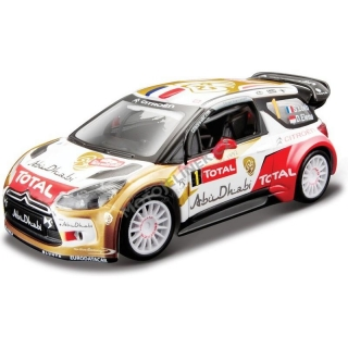 WRC Bburago 1:32 Citroen DS 3 No.1 S. Loeb WRC Team 2013