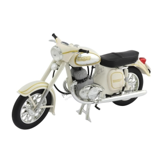 Model JAWA 350 Automatic (1966) 1:18, BÍLÁ